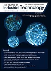วารสารวิชาการเทคโนโลยีอุตสาหกรรม : มหาวิทยาลัยราชภัฏสวนสุนันทา The Journal of Industrial Technology Suan Sunandha Rajabhat University ปีที่ 6 ฉบับที่ 2 เดือนกรกฎาคม - ธันวาคม ประจำปี 2561